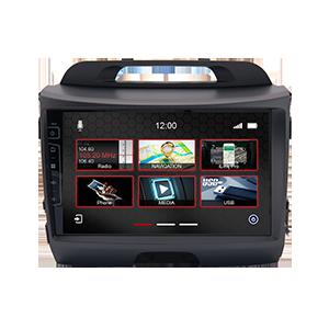 9-Zoll Navigationsgerät DIX-KA-34 Pro für Kia Sportage 2010-2015